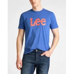 LEE T-SHIRT LOGO BLAUW 65Q...