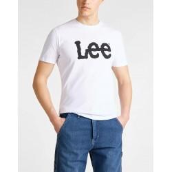 LEE T-SHIRT LOGO WIT 65Q AI12