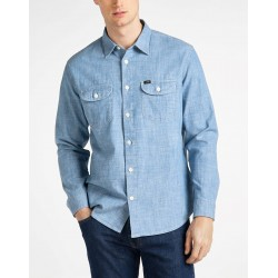 LEE WORKER SHIRT CHAMBRAY...